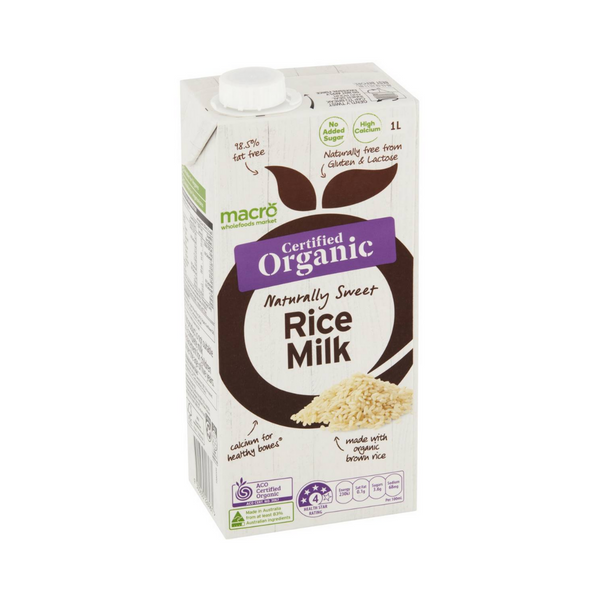 Macro - Organic Rice Milk 1L - Everyday Vegan Grocer