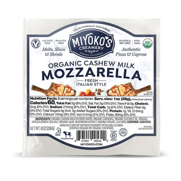 Miyoko's Creamery - Fresh Mozzarella, 227g - Everyday Vegan Grocer