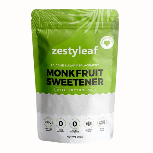 Zestyleaf - Monk Fruit Sweetener (500g) - Everyday Vegan Grocer