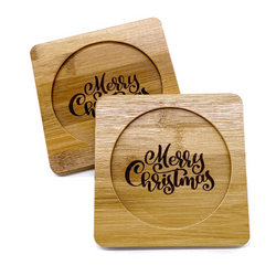 Bamboo Straw Girl - Bamboo Coaster