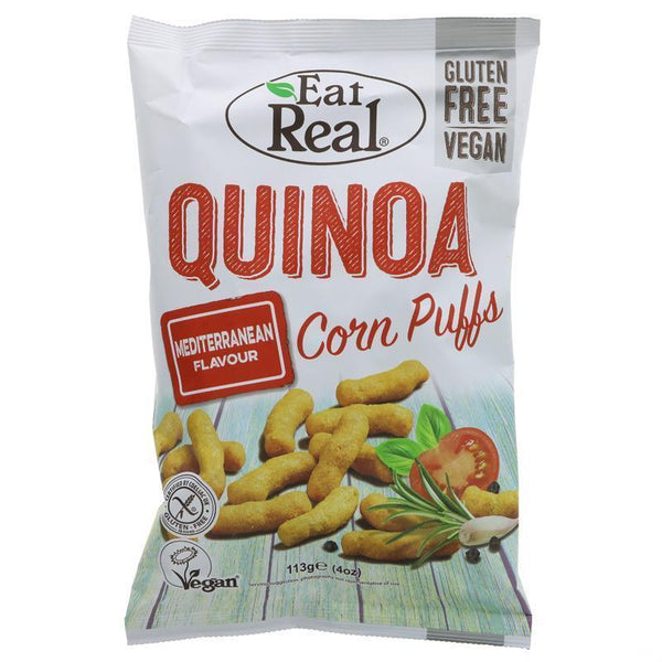 Eat Real - Quinoa Puff Mediterranean (Big), 113g - Everyday Vegan Grocer