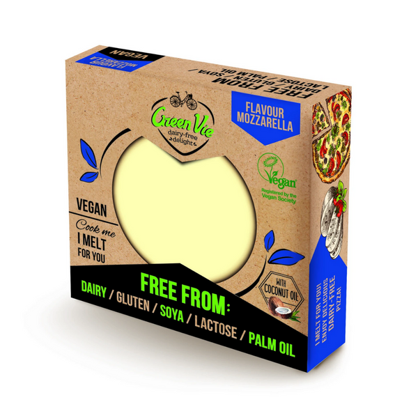 Green Vie - Mozzarella Flavour Cheese Block 250g - Everyday Vegan Grocer