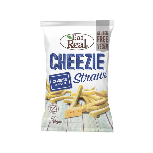 Eat Real - Cheezie Straws (Big), 113g - Everyday Vegan Grocer