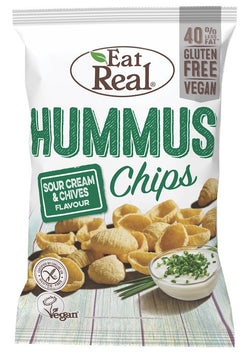 Eat Real - Hummus Chips Sour Cream & Chives 135g