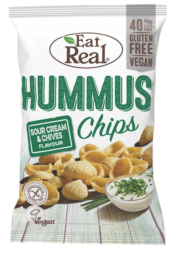 Eat Real - Hummus Chips Sour Cream & Chives 135g - Everyday Vegan Grocer