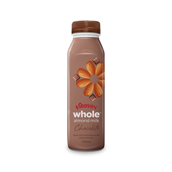Vitasoy - Whole Almond Chocolate 330mL - Everyday Vegan Grocer