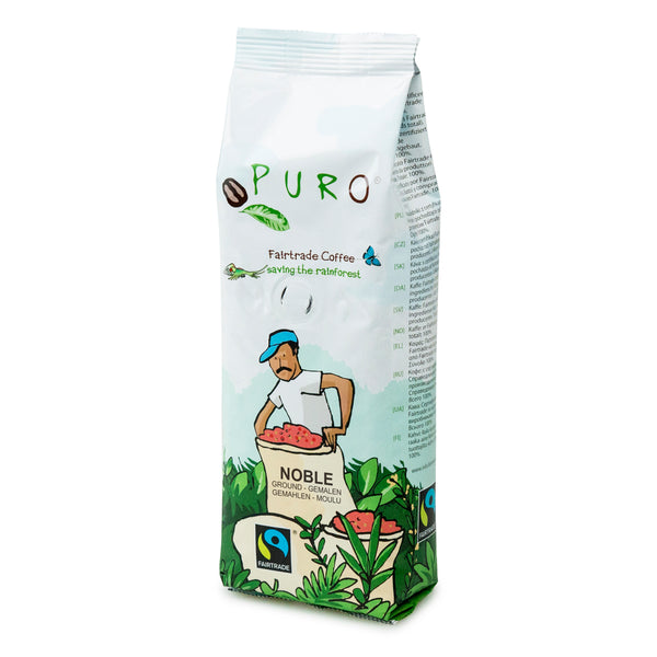 Puro Fairtrade Espresso Noble Coffee Ground 250g - Everyday Vegan Grocer