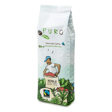 Puro Fairtrade Espresso Noble Coffee Beans 250g