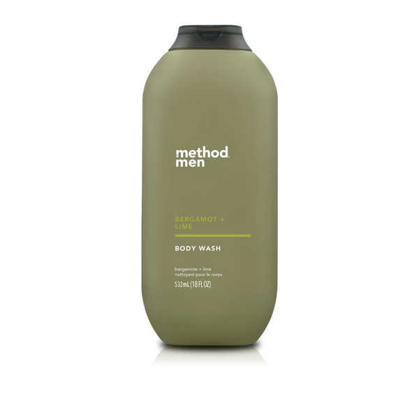 Method - Men Body Wash Bergamot + Lime 532ml - Everyday Vegan Grocer