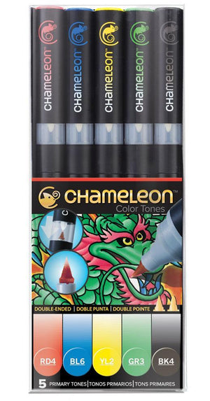 Chameleon 5 Pen Primary Tones Set