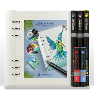 Filofax A5 Clipbook & Chameleon Pens Bundle