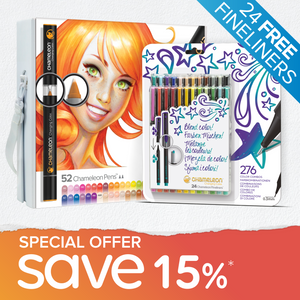 Special Offer Bundle - Chameleon 52 Pen Set + Chameleon Fineliner 24 Pack