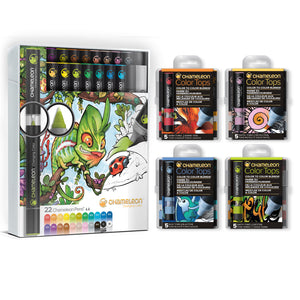 Chameleon Bundle - 22 Pen Deluxe Set & Color Tops