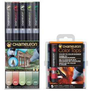 Chameleon Pens and Tops Bundle - Nature & Warm