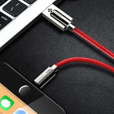 Cable Chargeur USB TOTU En Zinc Et Alloy | iPhone 5 / 5S / 5+ / 6 / 6S / 6+ / 7 / 7S / 7+ / 8 / 8S / 8+ / X-lookteck-Rouge-30CM-lookteck
