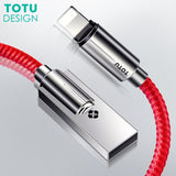 Cable Chargeur USB TOTU En Zinc Et Alloy | iPhone 5 / 5S / 5+ / 6 / 6S / 6+ / 7 / 7S / 7+ / 8 / 8S / 8+ / X-lookteck-Noir-30CM-lookteck
