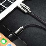 Cable USB | iPhone 5 / 5S / 5+ / 6 / 6S / 6+ / 7 / 7S / 7+ / 8 / 8S / 8+ / X-lookteck-Black-30CM-lookteck