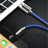 Cable USB | iPhone 5 / 5S / 5+ / 6 / 6S / 6+ / 7 / 7S / 7+ / 8 / 8S / 8+ / X-lookteck-Blue-30CM-lookteck