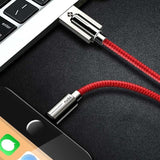 Cable USB | iPhone 5 / 5S / 5+ / 6 / 6S / 6+ / 7 / 7S / 7+ / 8 / 8S / 8+ / X-lookteck-Red-30CM-lookteck