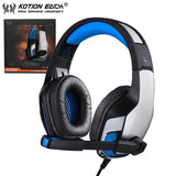 Casque Audio Gaming KOTION EACH-lookteck-Rouge-lookteck
