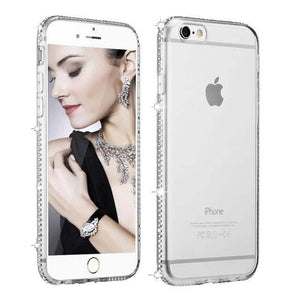 Coque En Silicone Diamants | iPhone 6 / 6s / 7  / 7+ / 8 / 8+ / X / XS / XR