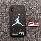 promos coques-promotion coques-coque iphone promos-coque samsung promos-Coque Lumineuse Jordan Pour iPhone X XS MAX XR 10 8 7 6 6S plus-lookteck