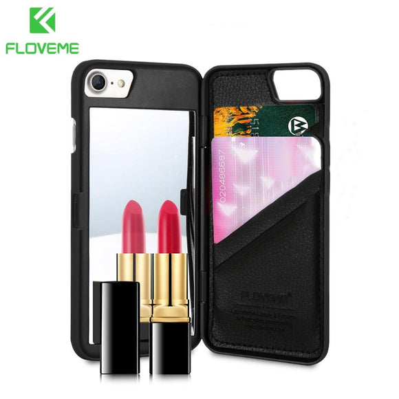 promos coques-promotion coques-coque iphone promos-coque samsung promos-Coque Miroir Portefeuille | FLOVEME | iPhone 6 / 6S / 7 / 7S / 8 / 8S / X-lookteck