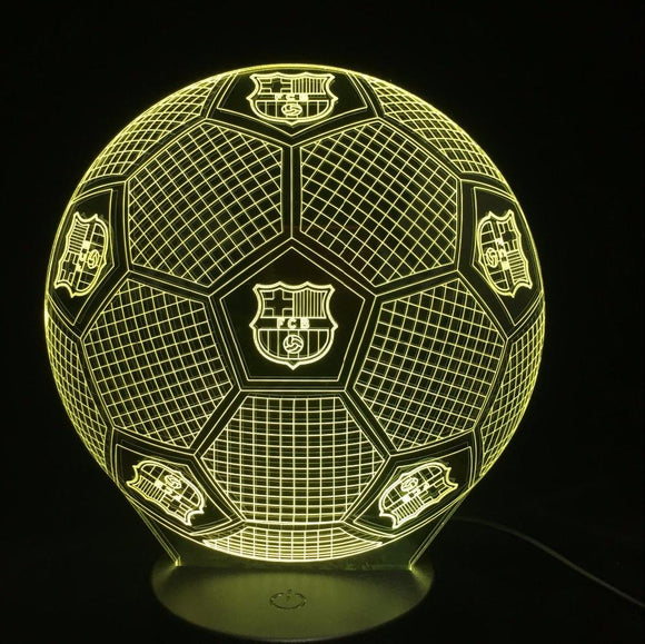 Lampe 3D | Édition Ballon FCB Barcelone-lookteck-lookteck