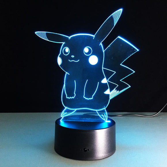 Lampe 3D | Édition Pikachu-lookteck-Version 1-Europe-lookteck