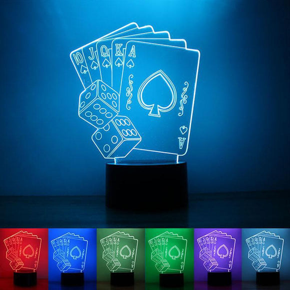 Lampe 3D | Édition Poker Star-lookteck-lookteck