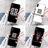 Coque Givenchy Pour iPhone  11 pro XS MAX 8 7 6 6 S Plus X 5 5 S SE XR