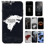 Coque Game Of Thrones Pour iPhone  8 7 6S Plus X XR 5S XS MAX