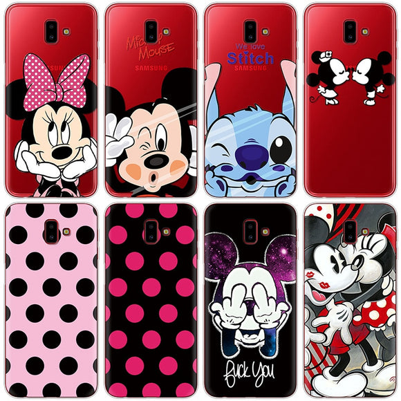 Coque Minnie Mickey Pour Samsung Galaxy J6 J6 Plus