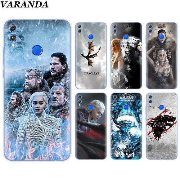 Coque Game Of Throne Pour Huawei Honor 8X 8C 7A 7C 7S 9 10 Lite Y5 Y6 Y7 Y9 2019