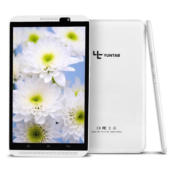 Tablette Yuntab H8 | 8 Pouces-lookteck-Blanc-Europe-lookteck