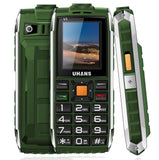 Téléphone incassable Étanche Anti Choc | Dual SIM | Enceinte Led | Flashlight-lookteck-english keyboard-green-China-lookteck