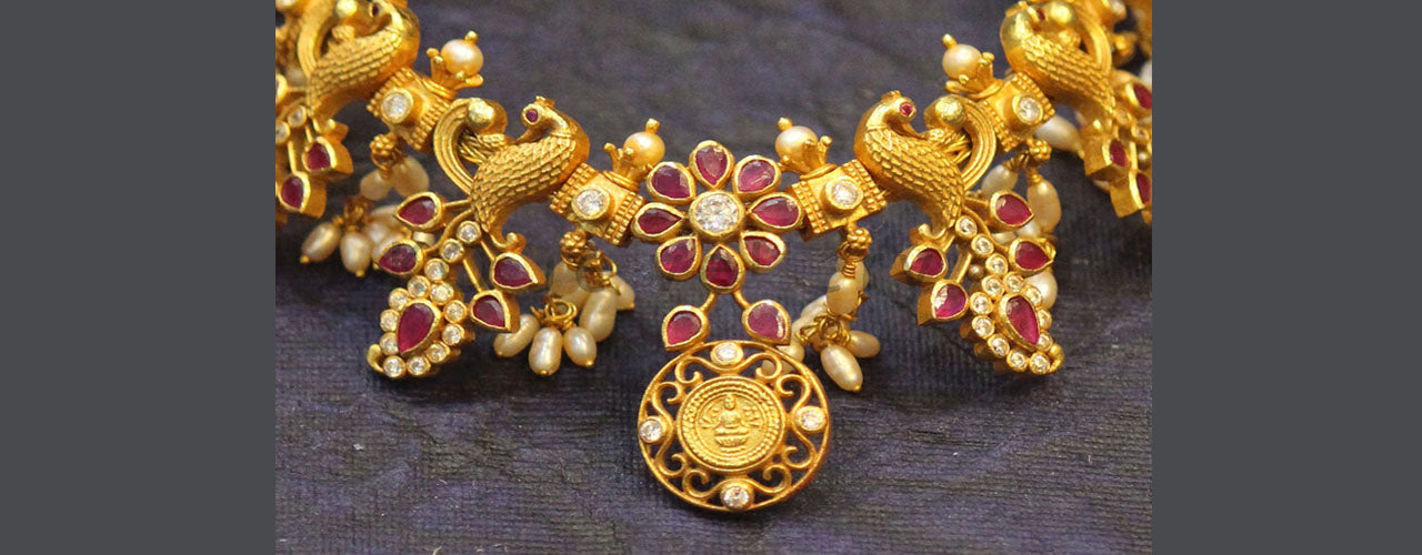 Devi Indian goddess motif silver and gold plated temple