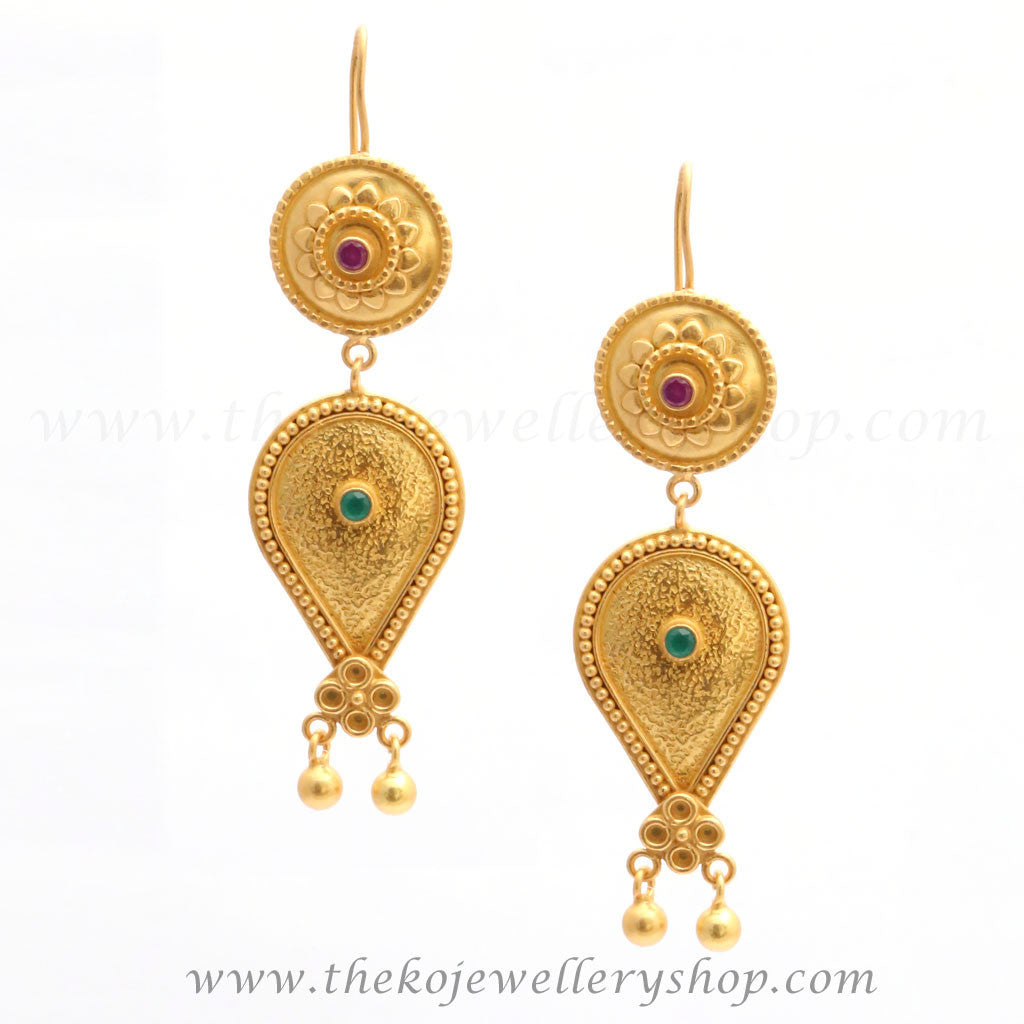 earrings gold plated silver jewelry online shopping india