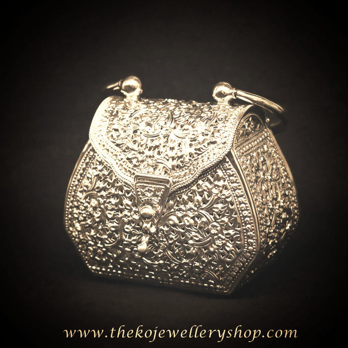 hand made silver clutch for women