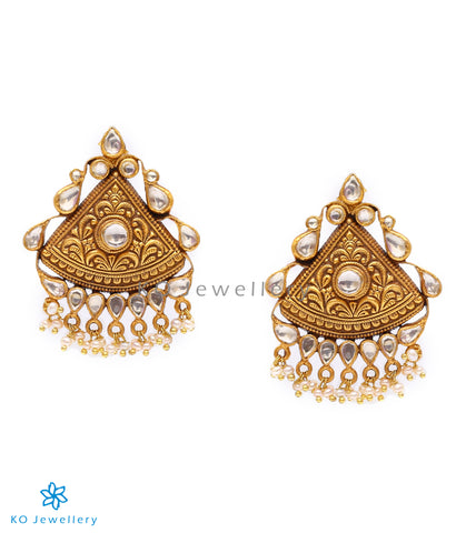 Purchase glass polki jewellery gold-plated earrings online