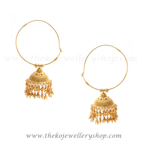 Online shopping gold plated silver bali jhumka
