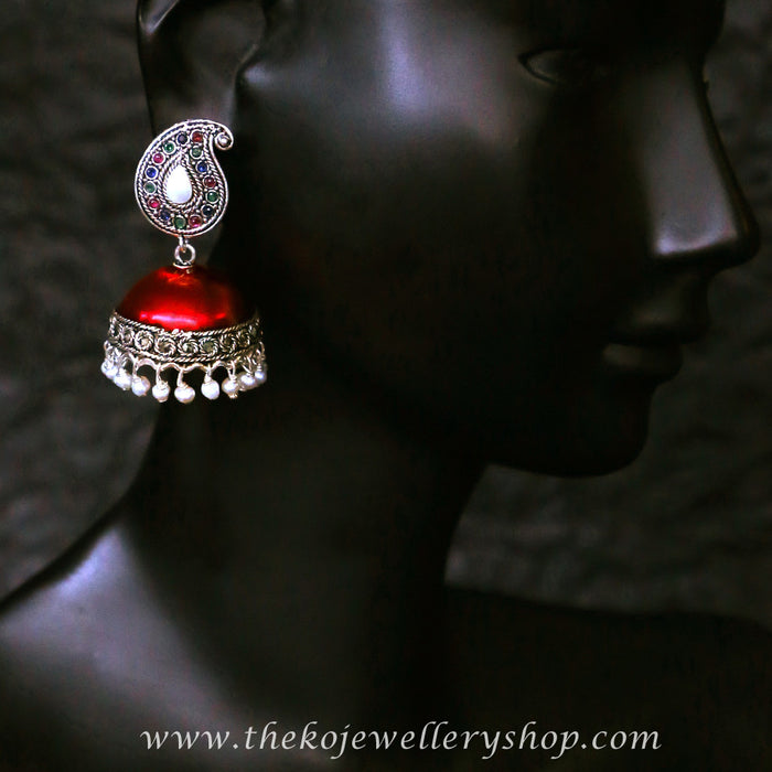 Enamel colour indian ethnic jhumka shop online