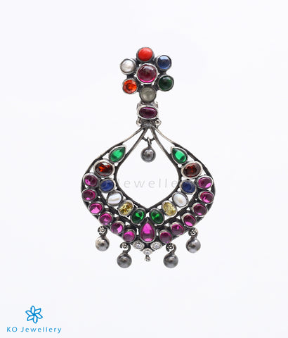 traditional South Indian temple jewellery navratna pendant