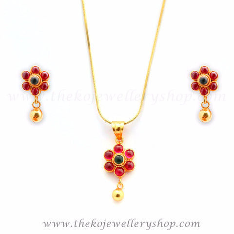 Charming floral office wear gold plated jewellery designs