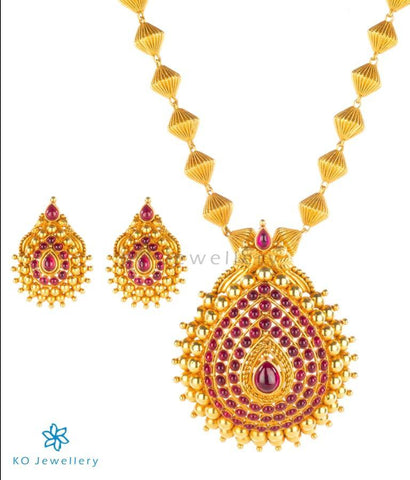 Antique gold temple jewellery sets starting INR 7,000