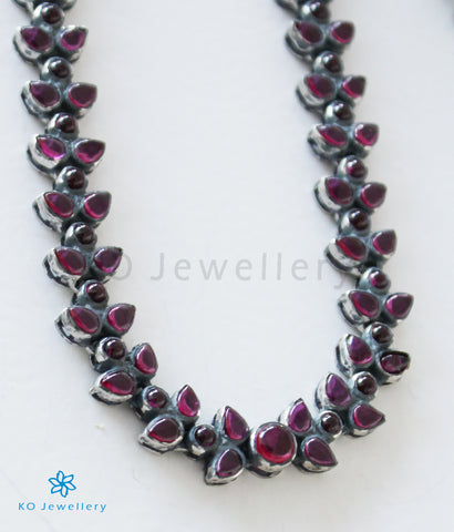 The Aroha Silver Kempu Necklace (Oxidised)