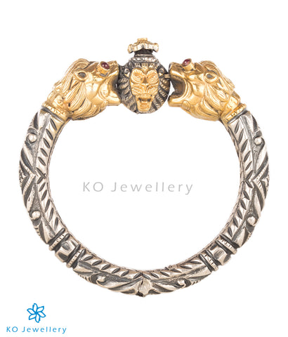 The Vyala Antique Silver Kada