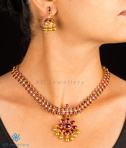 south Indian temple jewellery kempu necklace