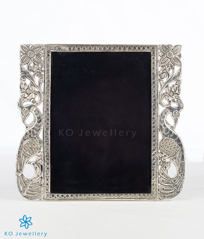 The Barha Sterling Silver Peacock Picture Frame