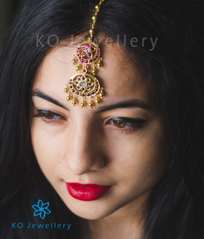 handcrafted gold plated indian bridal jewellery maang tika